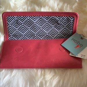 Soft pink leather wallet